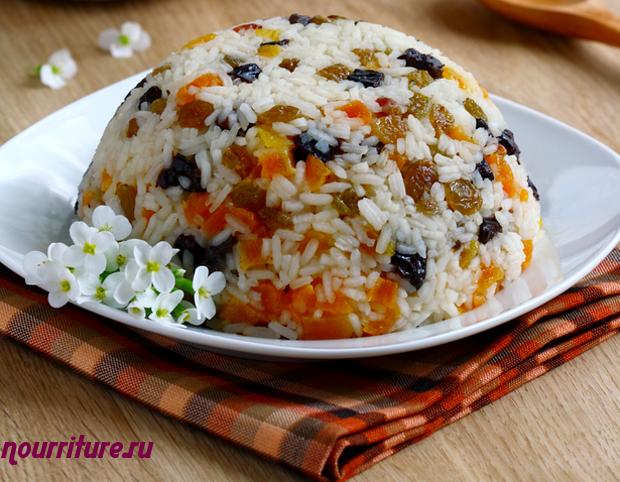 Каша рисовая с фруктами (рисовый пудинг)