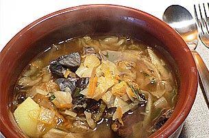 Грибной суп с капустой по-украински