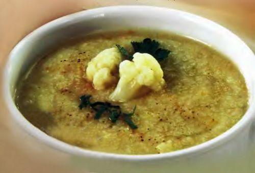 Суп-пюре из цветной капусты (с соусом)