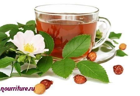 Антисклеротический чай с сушёной черноплодной рябиной и шиповником