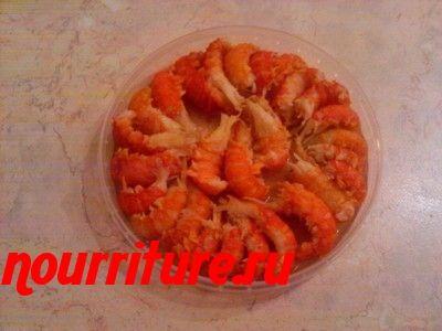 Консервированные раковые шейки в томатном соусе с рисом