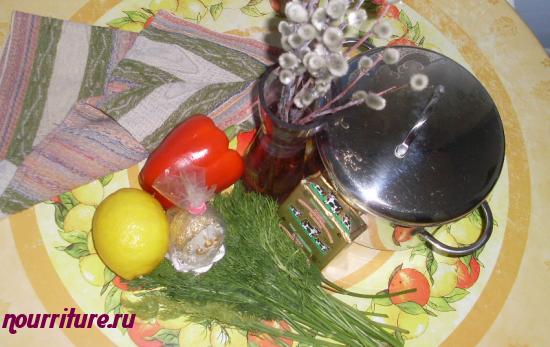 Пасхальная магирица (с зелёным салатом)