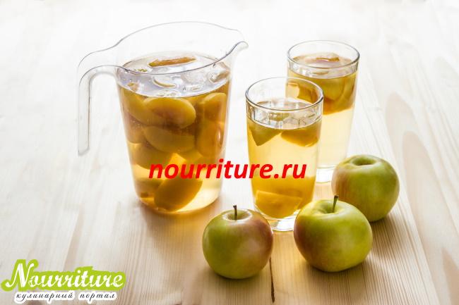 Ускоренный способ изготовления компота из кислых яблок