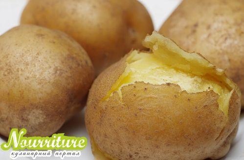 Картофельные корзиночки с овощным салатом
