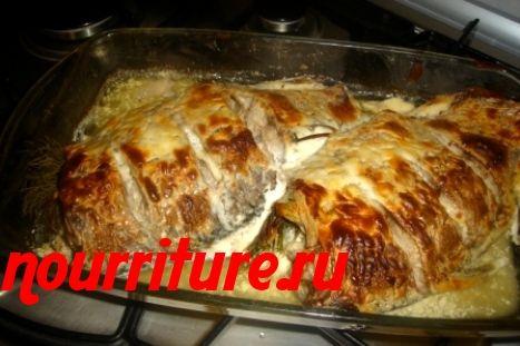 Жареные караси с картофелем и сметаной по-русски