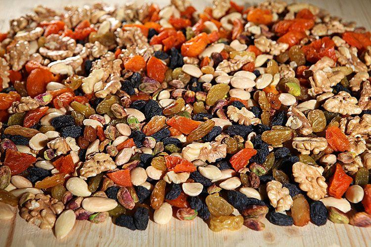 Грецкие орехи с сухофруктами при половом бессилии