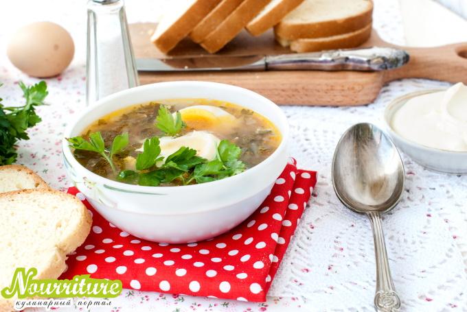 Суп с щавелем при нервных заболеваниях