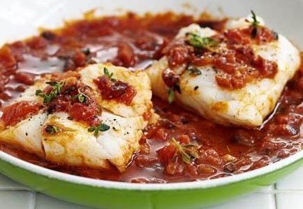 Рыба под зелёным соусом – кулинарный рецепт