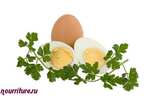 Крутые рубленые яйца под сметаной (при сахарном диабете и заболеваниях почек)
