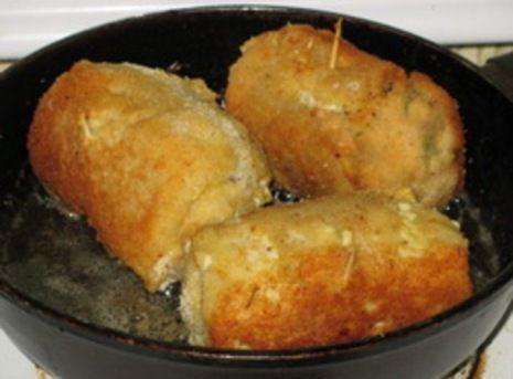 Трубочки рыбные, жаренные во фритюре