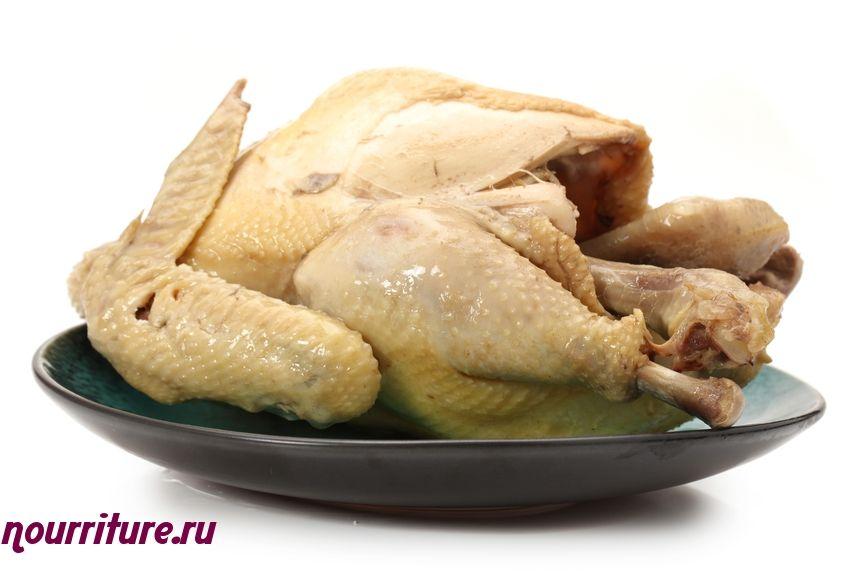 Шницель из варёной курицы