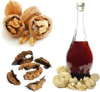 Спиртовая настойка перегородок грецкого ореха при хроническом поносе