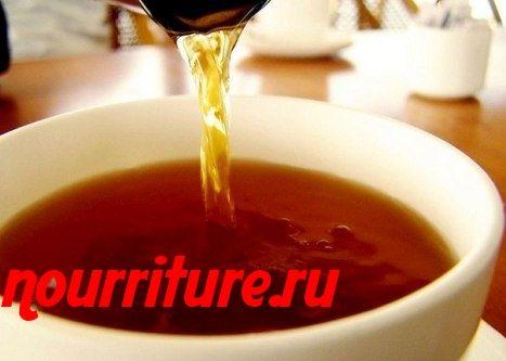 Чай из сушёных ягод черноплодной рябины и шиповника