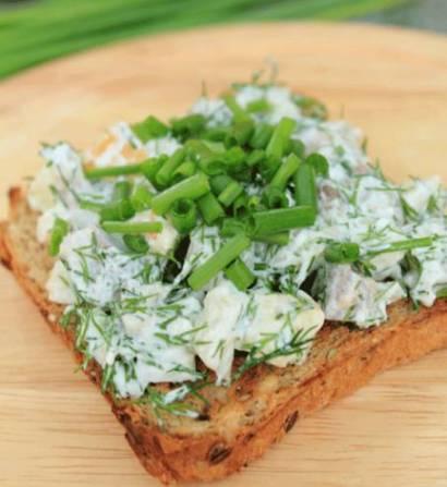 Салат из солёной и копчёной сельди
