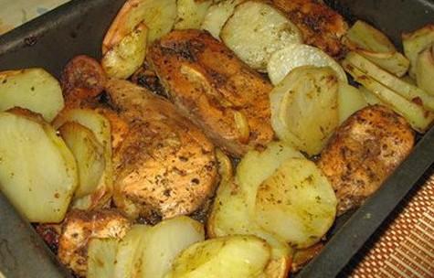 Рыба, запечённая с картофелем