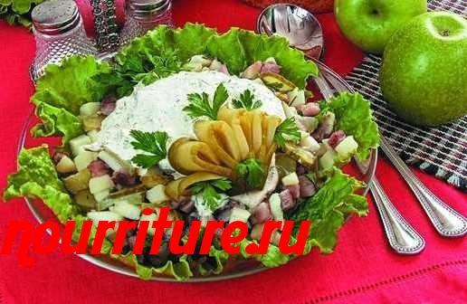 Салат витаминный с сельдью