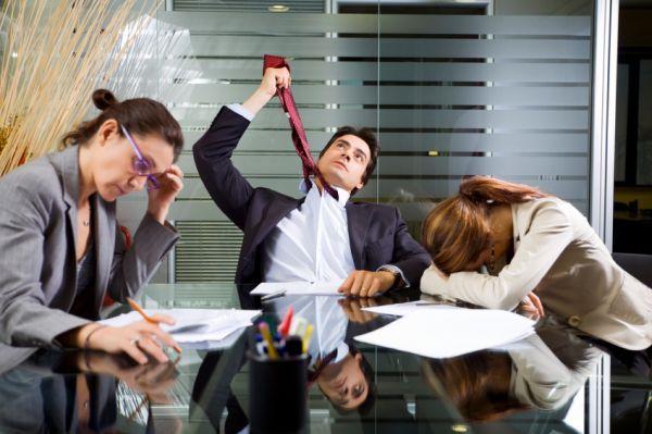 Работа заражает стрессом