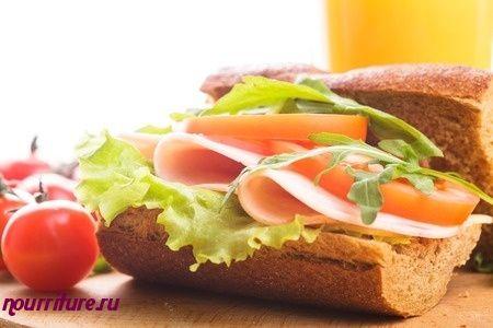 Бутерброды калорийные с ветчиной, яйцом и сыром