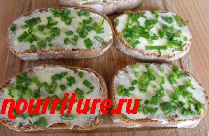 Бутерброды с яйцом и зелёным луком