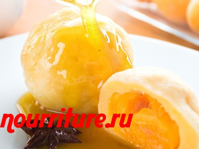 Картофельно-творожные кнедлики с фруктами при атопической экземе