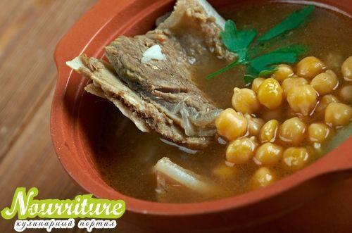 Пити (суп из тушёной баранины с нутом)