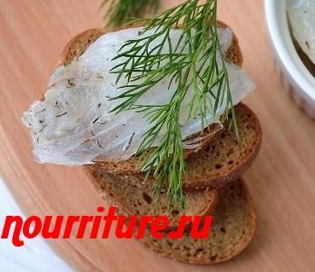 Бутерброды-ассорти с солёной мольвой