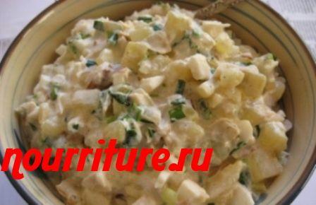 Салат из филе судака с картофелем