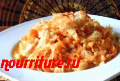 Салат из моркови и ледяной рыбы