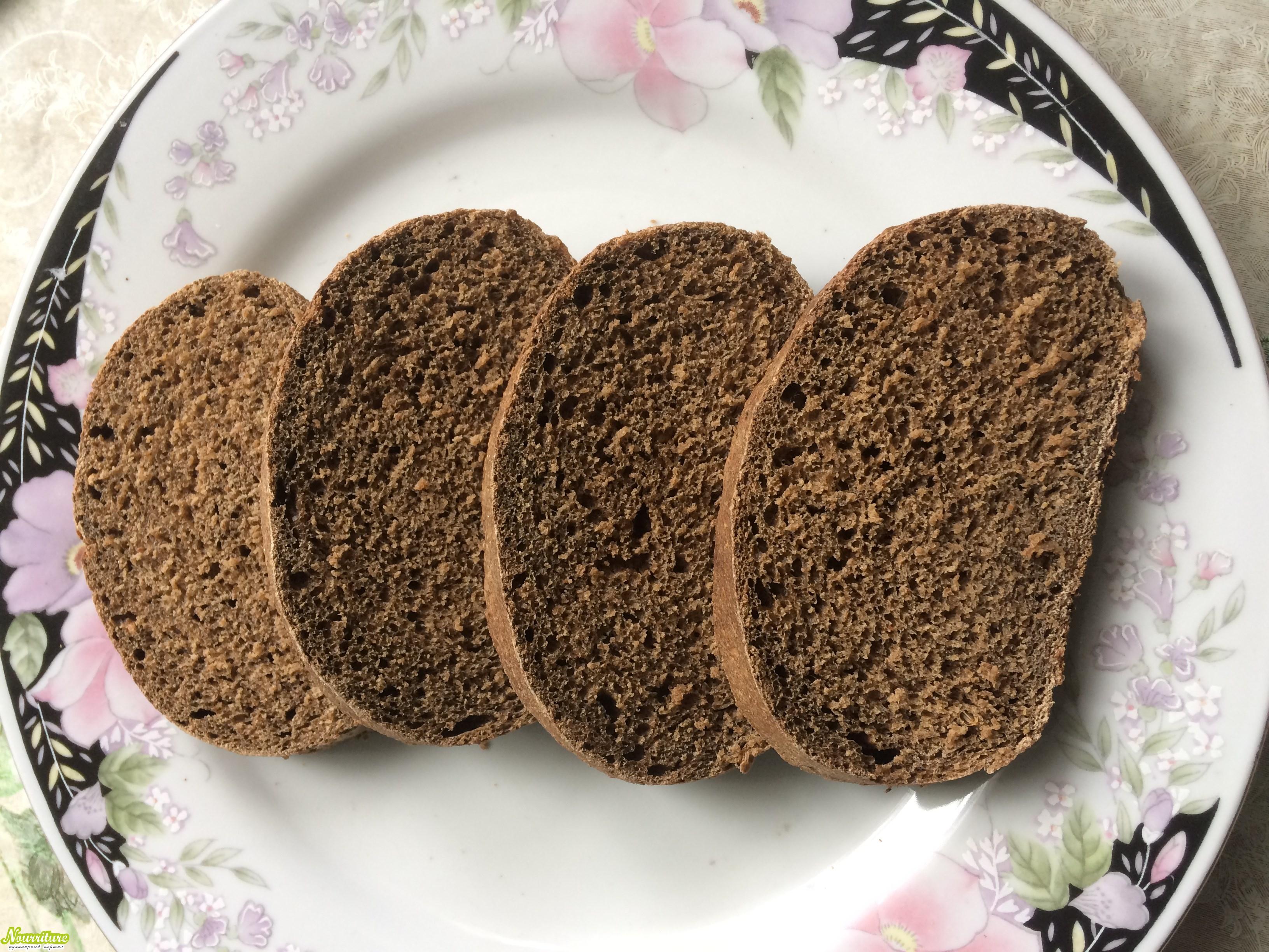 Чёрный хлеб (хлеб бородинский)