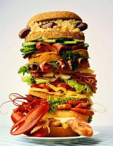 Особенности приготовления больших калорийных бутербродов