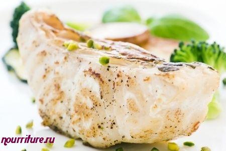 Салат с треской, камбалой, щукой или сомом