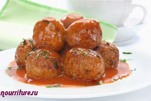 Говяжье рубленое филе в томатном соусе
