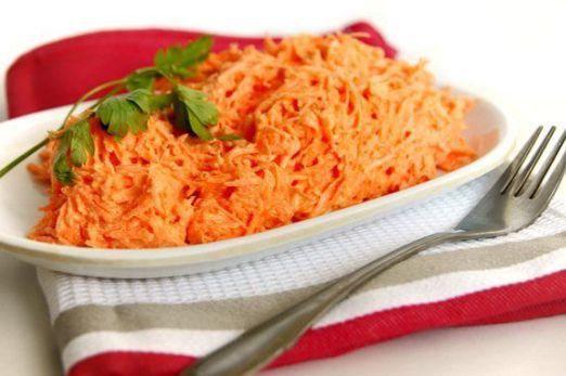 Салат из натертой моркови