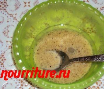 Заправка для сельдей из масла и уксуса
